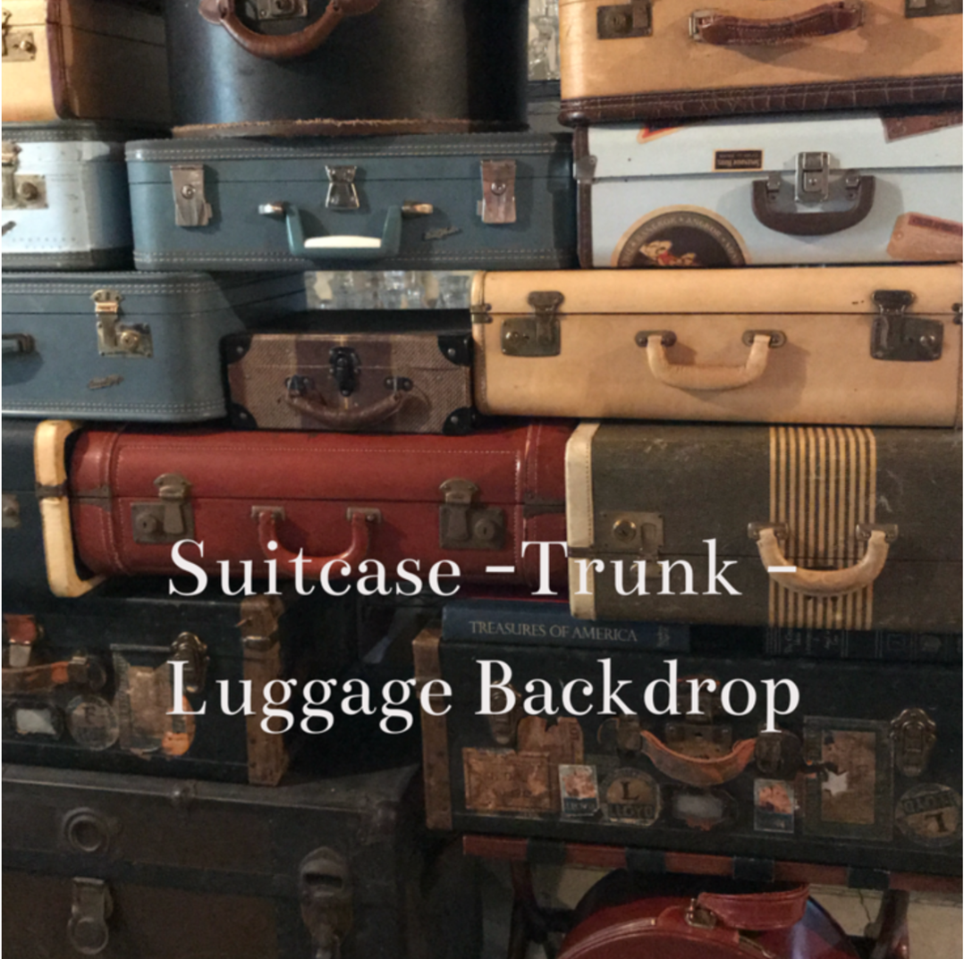 Stack of Vintage Luggage Available to Rent near me