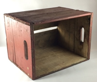 Barn Red Wooden Crate for Rent
